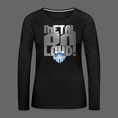 metalonloud large 4k png - Women's Premium Longsleeve Shirt