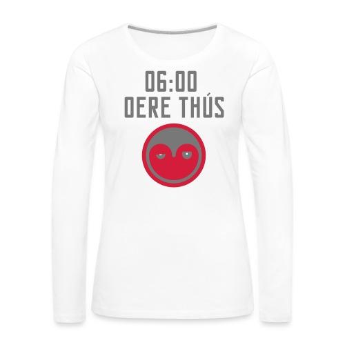 6 oere tus - wit - Vrouwen Premium shirt met lange mouwen