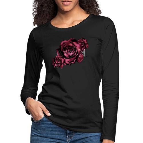 Rose Guardian Small - Premium langermet T-skjorte for kvinner