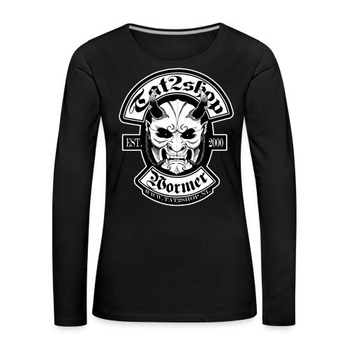 Tat2shop Logo - Vrouwen Premium shirt met lange mouwen