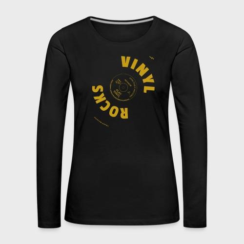 T-Record - Vinyl Rocks! - Vrouwen Premium shirt met lange mouwen