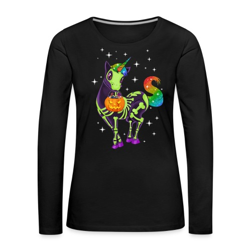 Unicorn pumpkin hallowen - Women's Premium Longsleeve Shirt