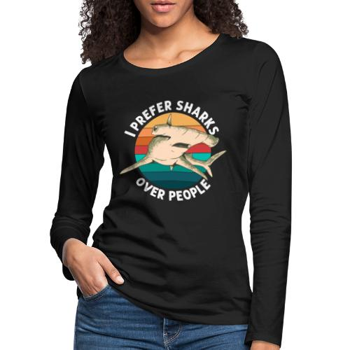 Meerestier Vintage Biologie Retro Meeresbiologe - Frauen Premium Langarmshirt