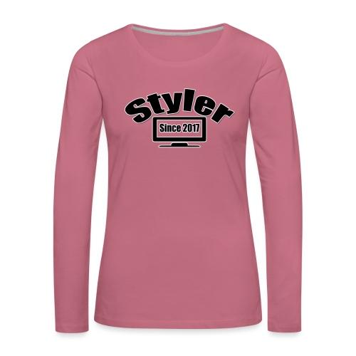 Styler Designer Kleding - Vrouwen Premium shirt met lange mouwen