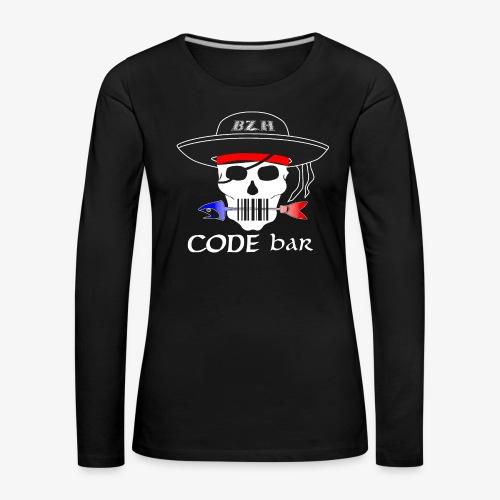 Code Bar white - T-shirt manches longues Premium Femme