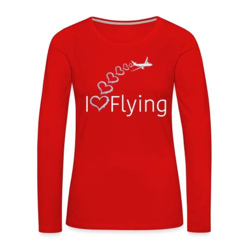 I love flying wit3 - Women's Premium Longsleeve Shirt