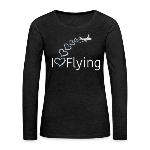 I love flying wit3 - Women's Premium Longsleeve Shirt