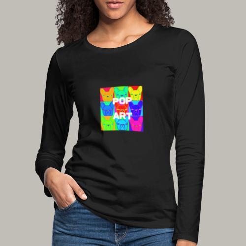 L'art de la Pop - T-shirt manches longues Premium Femme
