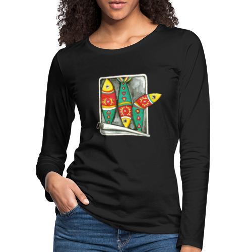 Les sardines du Portugal - T-shirt manches longues Premium Femme