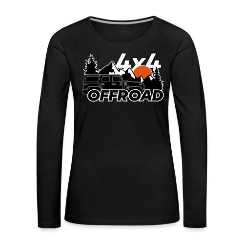 Offroad 4x4 Jeep Logo - Frauen Premium Langarmshirt