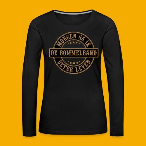 bb logo rond shirt - Vrouwen Premium shirt met lange mouwen