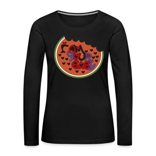 SOY TU CHICA - Camiseta de manga larga premium mujer