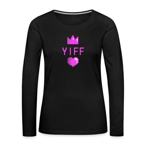 Yiff - Naisten premium pitkähihainen t-paita