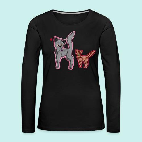 cat and kitten - Naisten premium pitkähihainen t-paita
