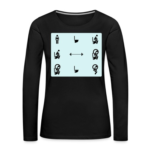 How to squat - Women's Premium Longsleeve Shirt
