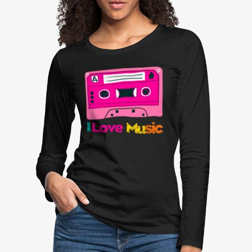 Cinta 3 - Camiseta de manga larga premium mujer