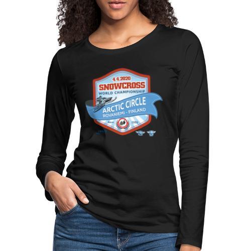 MM Snowcross 2020 virallinen fanituote - Naisten premium pitkähihainen t-paita