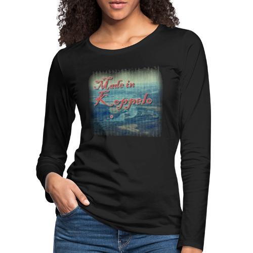 Made in Koppelo lippis - Naisten premium pitkähihainen t-paita