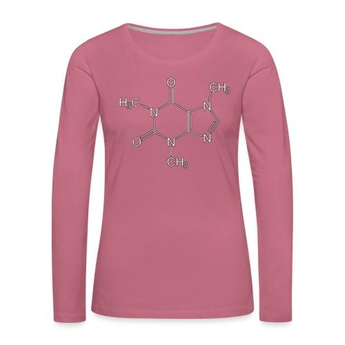Koffein.png - Frauen Premium Langarmshirt