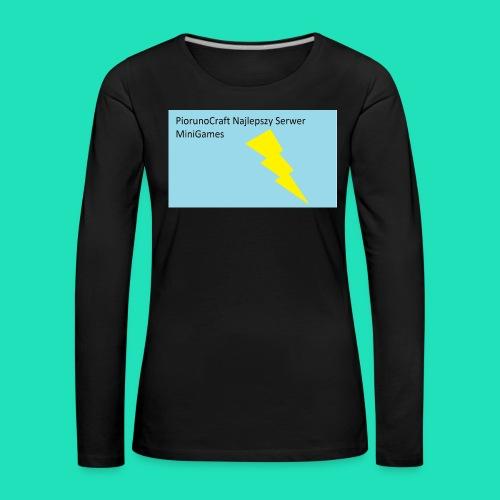 Piorunowe Na Telefon 5s - Koszulka damska Premium z długim rękawem