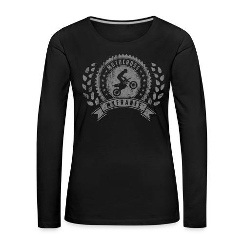 Motocross Retro Champion - T-shirt manches longues Premium Femme