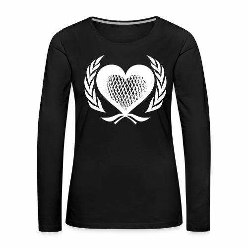 Herz Kranz Gitter Netz Logo Emblem Geschenkidee - Frauen Premium Langarmshirt