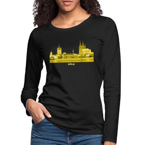Köln Dom Rhein Nordrhein-Westfalen Deutschland - Frauen Premium Langarmshirt