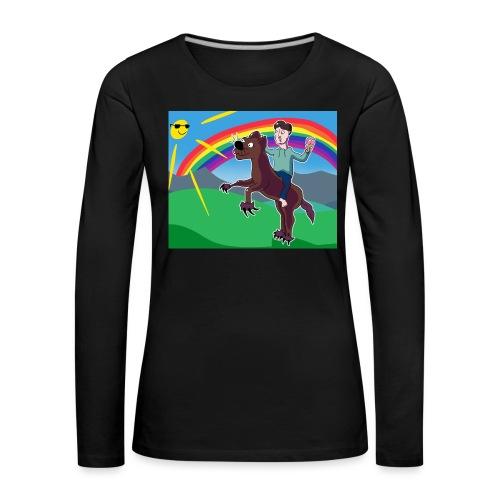 Regnbue Strandfisk Musematte - Premium langermet T-skjorte for kvinner