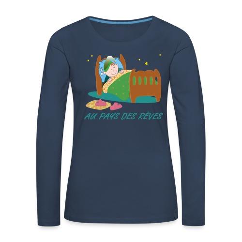 Personnage endormi - T-shirt manches longues Premium Femme