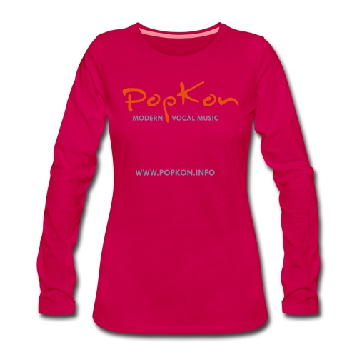 popkonlogoorangesilver - Frauen Premium Langarmshirt