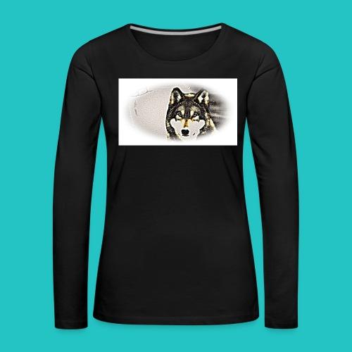 Bluza Wilk - Koszulka damska Premium z długim rękawem