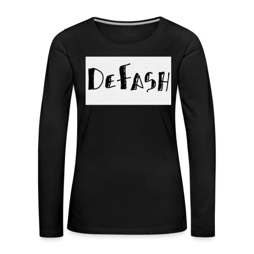 Defash1-png - T-shirt manches longues Premium Femme