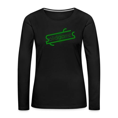 Solidgames Crewneck Grey - Women's Premium Longsleeve Shirt