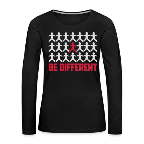Nordic Walking - Be Different - Naisten premium pitkähihainen t-paita