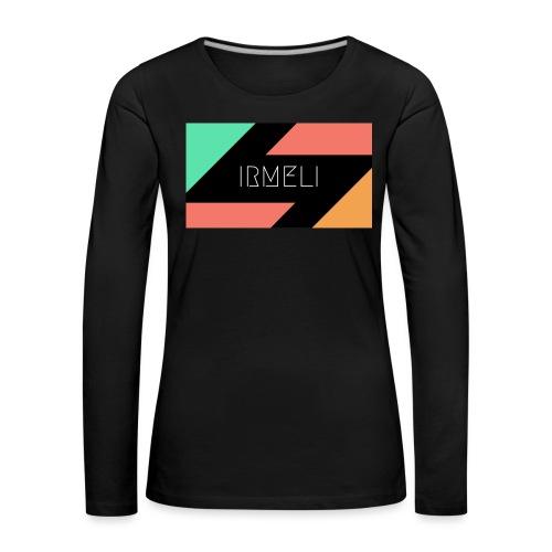 Irmelis Logo glothes - Naisten premium pitkähihainen t-paita