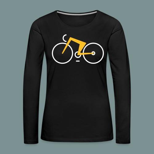 Bikes against cancer - Dame premium T-shirt med lange ærmer