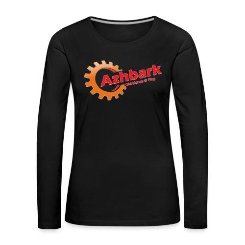 Azhbark Logo - Dame premium T-shirt med lange ærmer