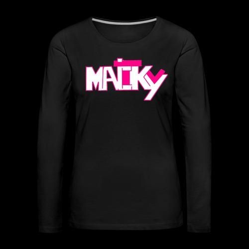 MaickyTv Pink - Frauen Premium Langarmshirt