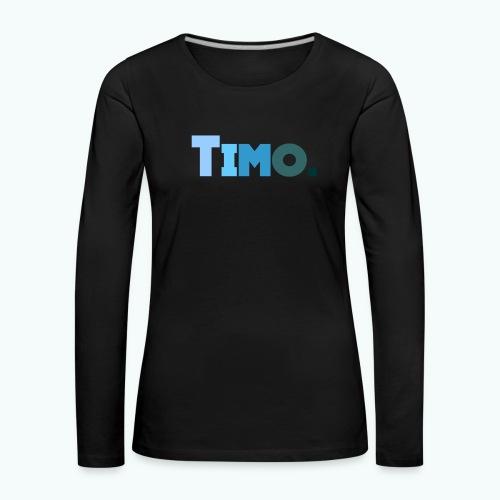 Timo in blauwe tinten - Vrouwen Premium shirt met lange mouwen
