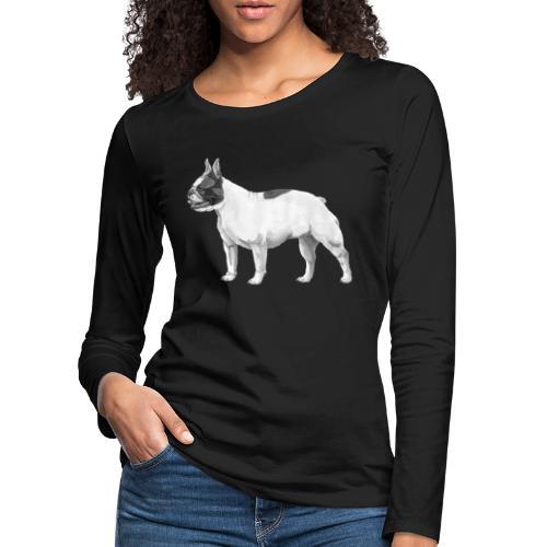 French Bulldog - Dame premium T-shirt med lange ærmer