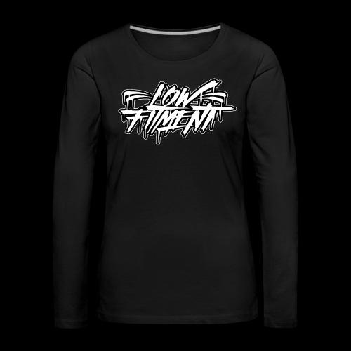 LFnewBLACKWHITE - Vrouwen Premium shirt met lange mouwen