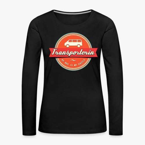 Transporterin Retro - Frauen Premium Langarmshirt