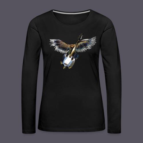 Greifvogel mitGitarrenbeute - Frauen Premium Langarmshirt