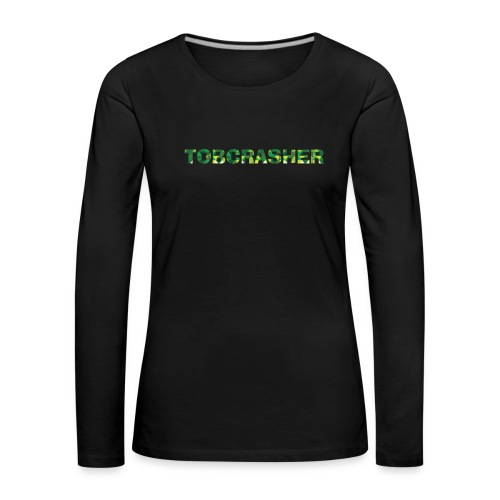 Tshirt Green triangles big - Frauen Premium Langarmshirt