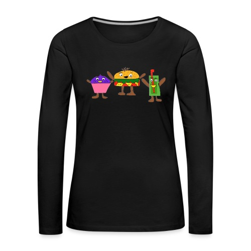 Fast food figures - Women's Premium Longsleeve Shirt