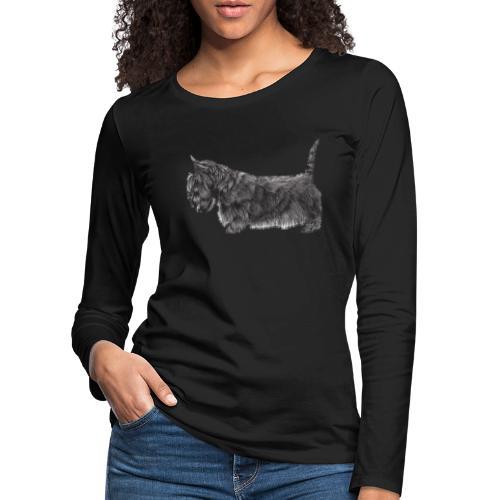 skotsk terrier ub - Dame premium T-shirt med lange ærmer