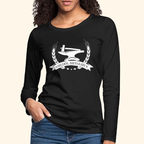 Smedöl Brygghus Logga Vit - Långärmad premium-T-shirt dam