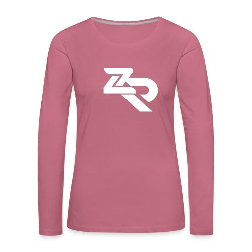 ZR Hoodie - Dame premium T-shirt med lange ærmer
