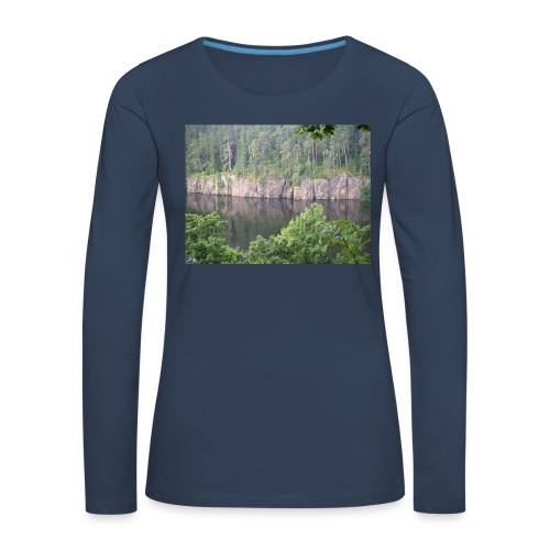 Laatokan maisemissa - Naisten premium pitkähihainen t-paita