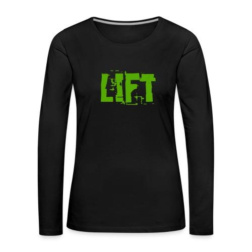lift - Maglietta Premium a manica lunga da donna